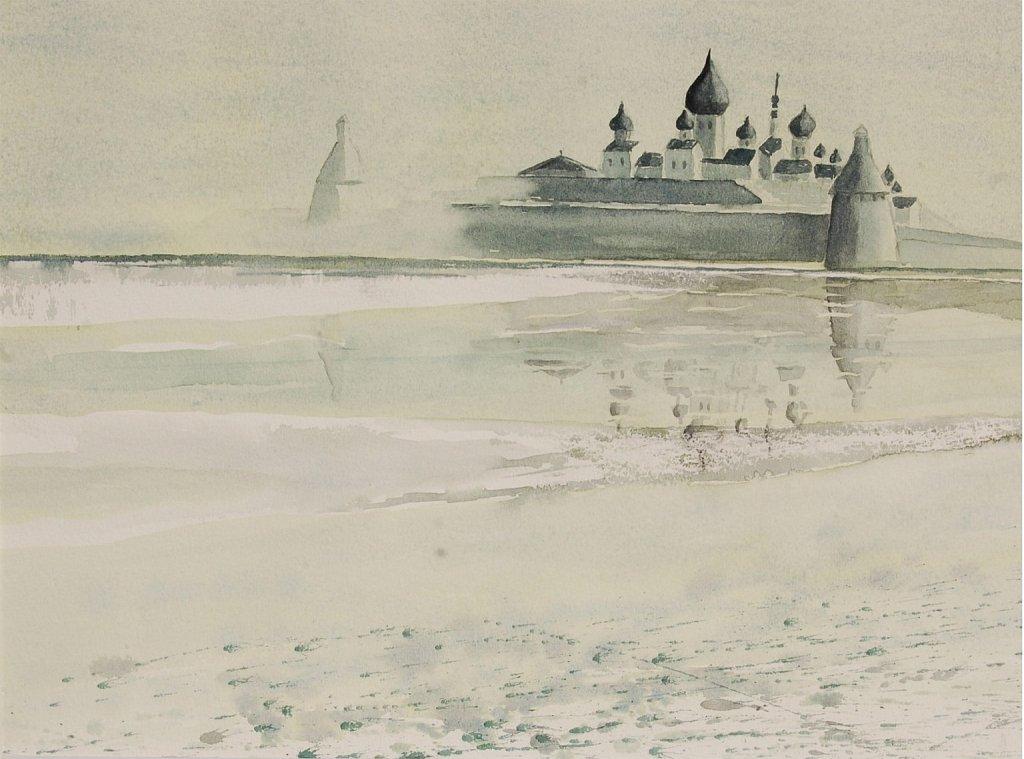Solovki dans la brume