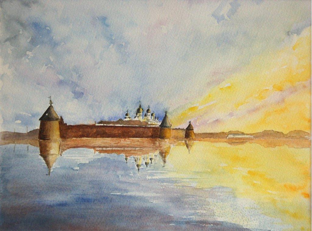 Solovki coucher de soleil